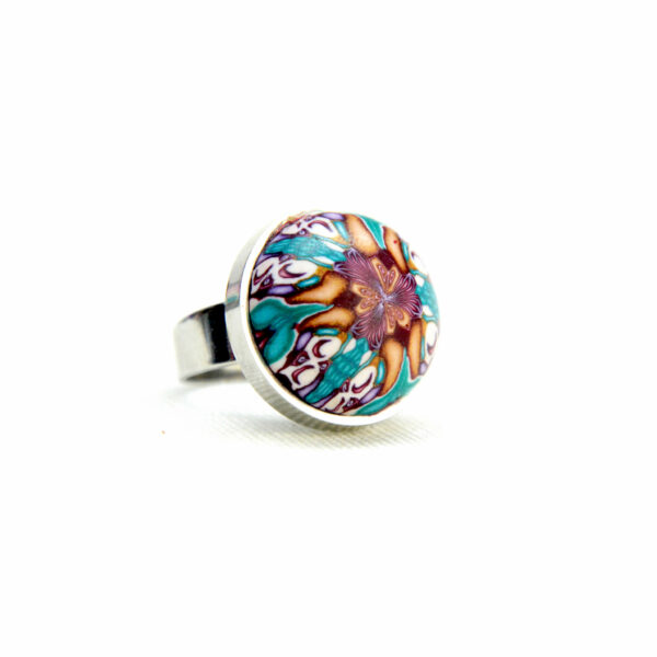 Anillo, artesanal, artesanía, millefiori, caleidoscopio, colores, kaleidoscope