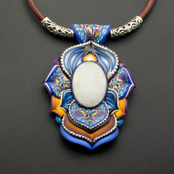 Semipreciosa, lapislázuli, azul elegante joyería creativa piedra luna