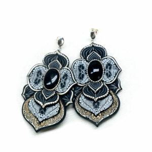pendientes artesanales handmade cantabria ónix negro