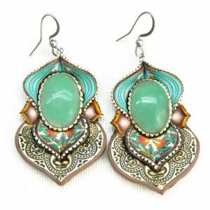 pendientes artesanía artesanal artesanos millefiori semipreciosa gema gemas colores cantabria handmade aventurina hippie