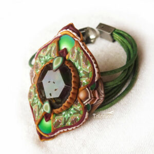 pulsera artesanal artesanía handmade millefiori semipreciosa gema magia amor hippie chic boho bohemian ágata verde