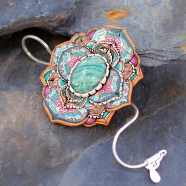 pulsera artesanal cantabria semipreciosa amazonita invierno
