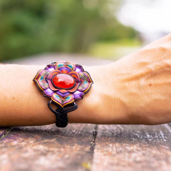 pulsera artesanal cantabria semipreciosa jaspe