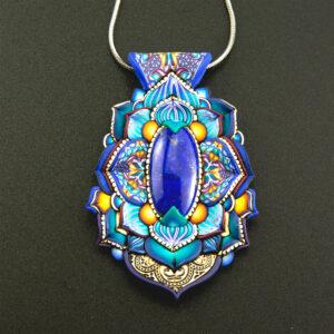 semipreciosa, lapislázuli, azul elegante joyería creativa