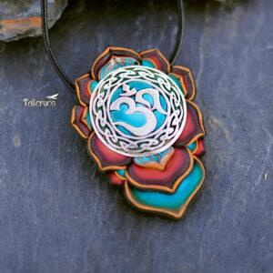 semipreciosa, lapislázuli, azul elegante joyería creativa collar colgante medallón artesanía artesanal cantabria
